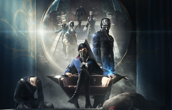 Picture Reflection, Look, Mask, Emily, Bethesda Softworks, Bethesda, Corvo, Corvo, Emily, Arkane Studios, Enemies, Dishonored 2
