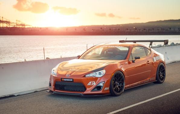 Picture orange, tuning, Toyota, tuning, front, orange, Scion, Scion, fr-s, FR-s