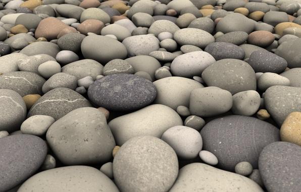 Picture beach, nature, pebbles, stones, surf