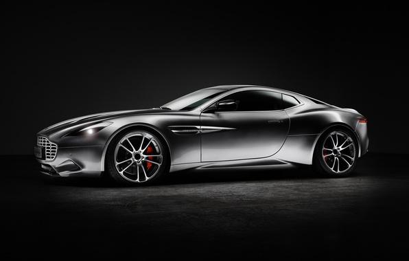 Wallpaper Aston Martin Black Background Silver Thunderbolt 2015