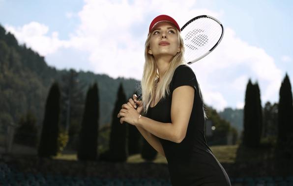 Picture girl, face, cap, tennis, Ingrid