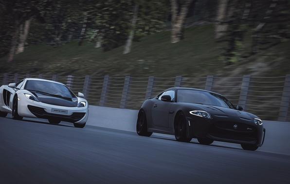 Picture race, McLaren, Jaguar, MP4-12C