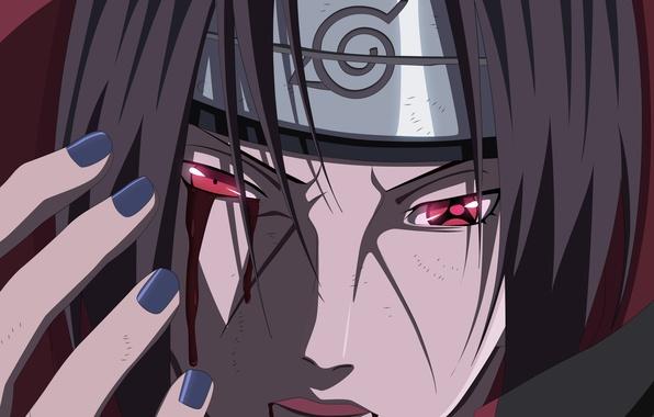 Wallpaper Blood Hitman Naruto Man Sharingan Uchiha Itachi Assassin Hero Akatsuki Shippuden Doujutsu Powerful Hitaiate Strong Sugoi