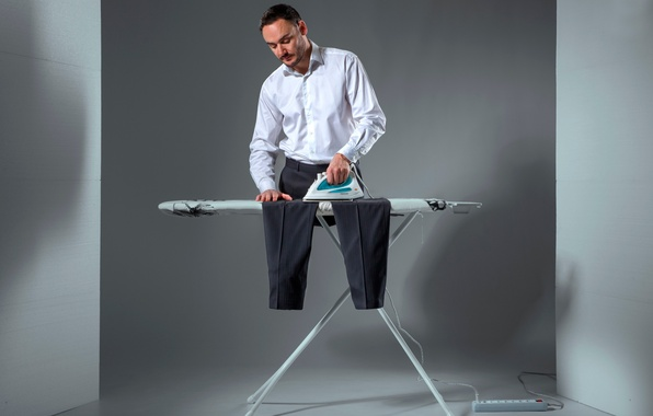 Picture creative, male, pants, iron, Ironing
