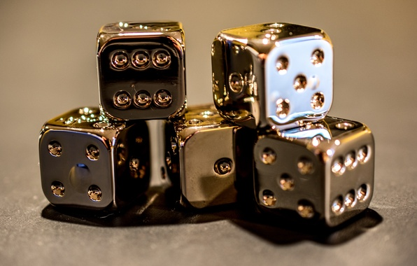 Picture macro, background, cubes, dice