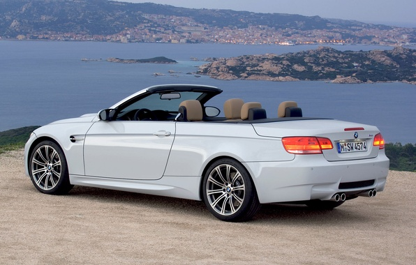 Picture Water, Auto, The city, White, BMW, Machine, Convertible, BMW