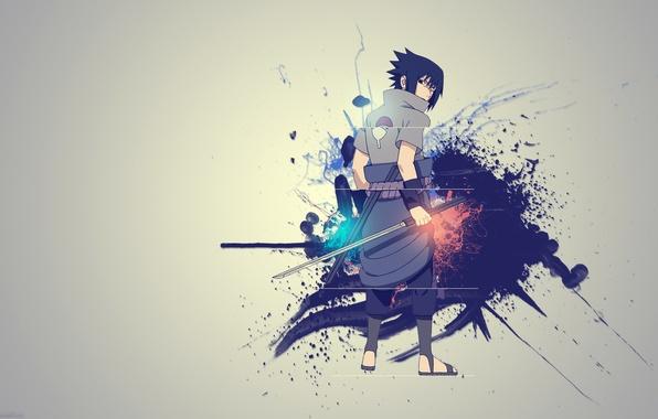 Picture creative, sword, Sasuke, Naruto, Naruto, Sasuke Uchiha, Kusanagi