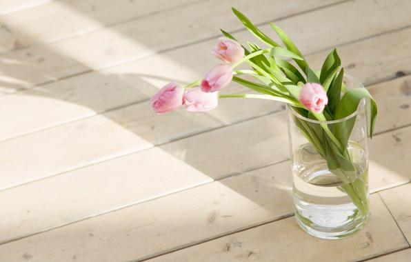 Picture flowers, photo, Wallpaper, bouquet, spring, tulips, floor, vase