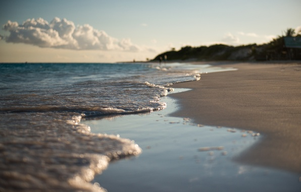 Picture sand, macro, spring, surf, Anguilla