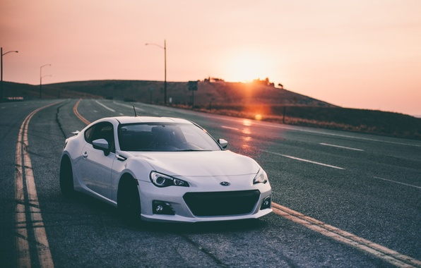 Picture car, auto, road, Subaru, subaru brz
