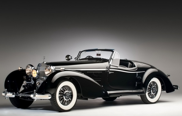 Picture retro, coupe, Mercedes-Benz, convertible