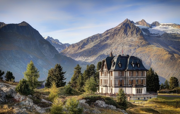 Picture Switzerland, Alps, Villa Cassel