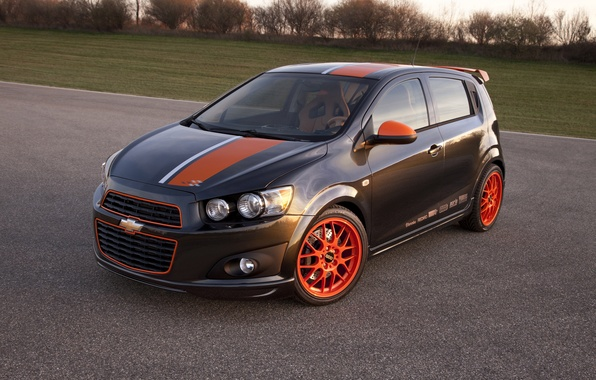 Picture grey, tuning, Chevrolet, Sonic, Chevrolet, bbs, Sonic
