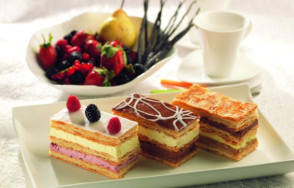 Picture raspberry, food, cake, cake, cake, cream, dessert, food, sweet, strawberry, cream, dessert, blackberry, pear, raspberries, …