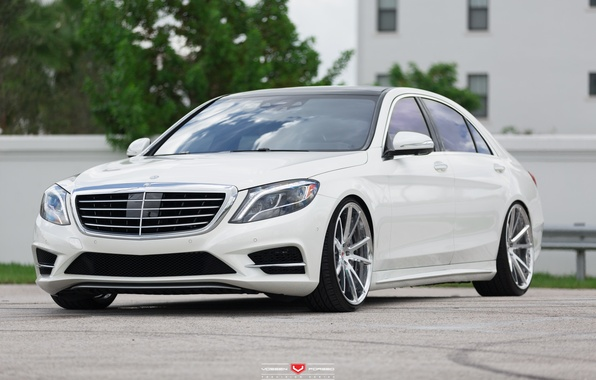 Picture machine, auto, Mercedes, before, Mercedes, Benz, wheels, drives, auto, S550, Vossen Wheels