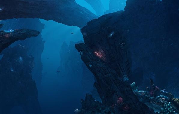 Picture depth, the bottom of the sea, deep seas of pandora