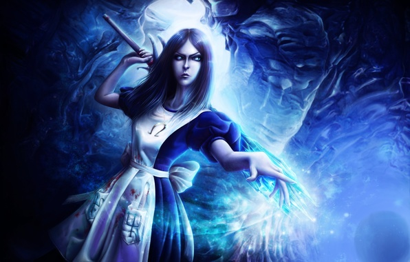 Picture crystal, girl, art, Alice, rod, Alice Madness Returns