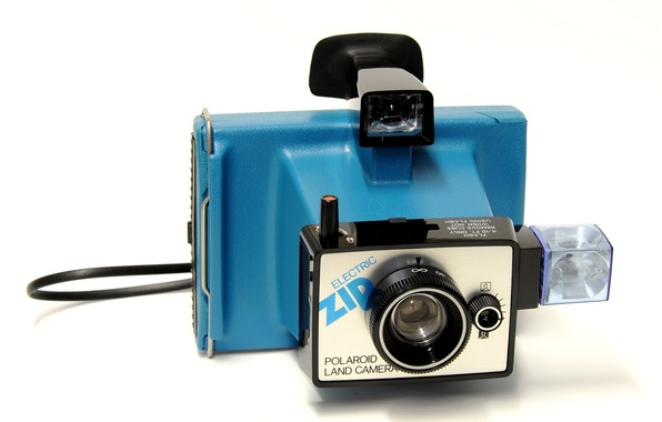 Picture background, the camera, Polaroid, Electric Zip, 1975-78