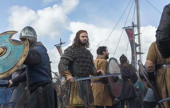 Picture sword, fight, Vikings, The Vikings, Clive Standen, Rollo