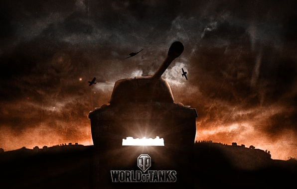 Picture sunset, tank, USSR, tanks, aircraft, WoT, World of Tanks, Wargaming.net