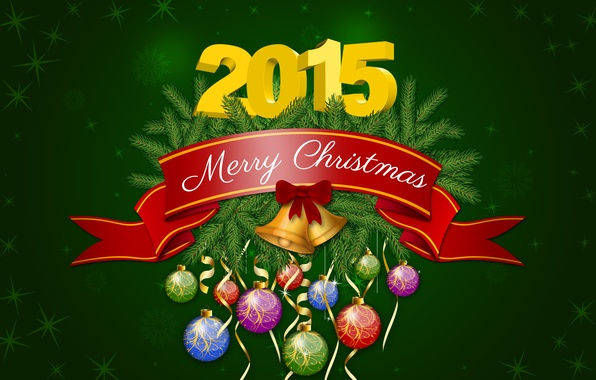 Picture Happy New Year, Christmas, Green, New Year, December, Merry Christmas, Holiday, 2015
