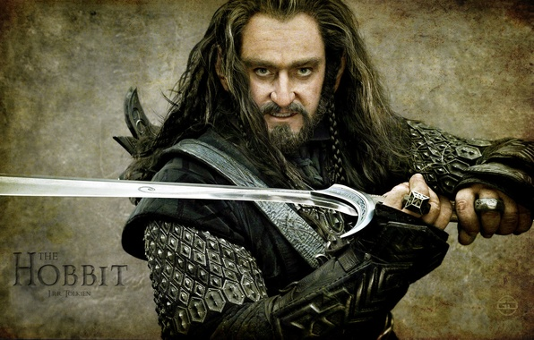 Picture warrior, sword, The hobbit, Richard Armitage, Torin Oakenshield, hobbit, Richard Armitage