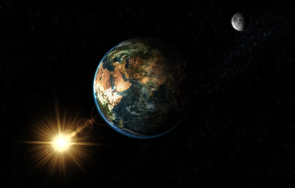 Picture house, earth, Earth, Planet
