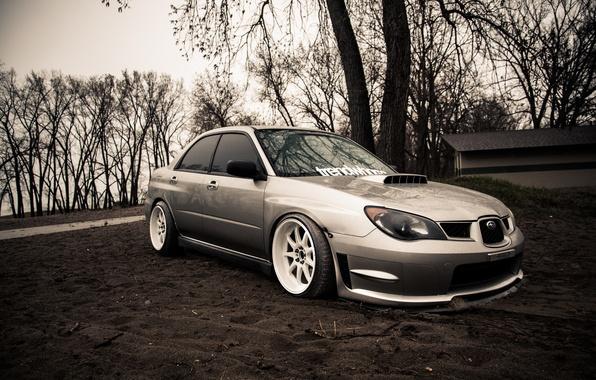 Picture Subaru, silver, wrx, impreza, Subaru, sti, Impreza