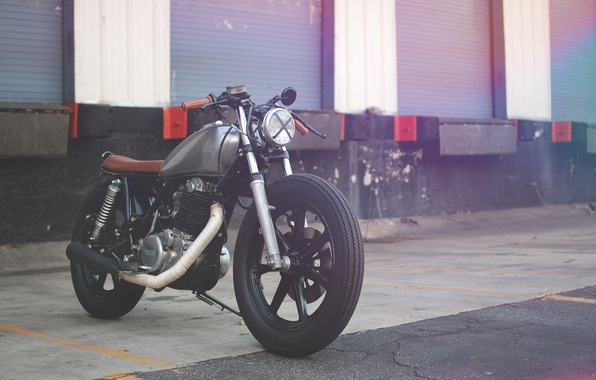 Picture yamaha, motorcycle, cafe racer, sr500