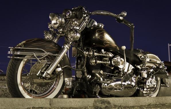 Picture design, motorcycle, form, bike, Harley-Davidson