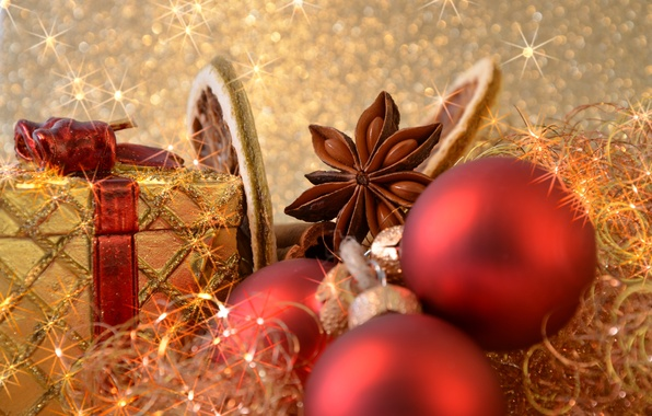 Picture balls, gold, balls, toys, Shine, New Year, Christmas, gifts, red, Christmas, holidays, New Year, spices, …