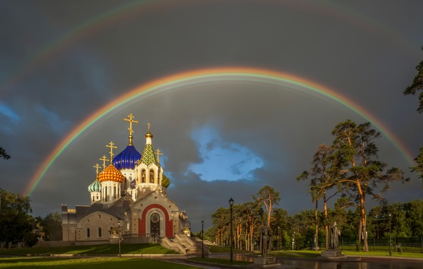 Picture rainbow, Moscow, The temple of Saint Prince Igor of Chernigov, The Patriarchal metochion, Peredelkino