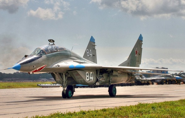 Picture Fulcrum, OKB MiG, 120 GW.IAP, training combat fighter, MiG-29UB