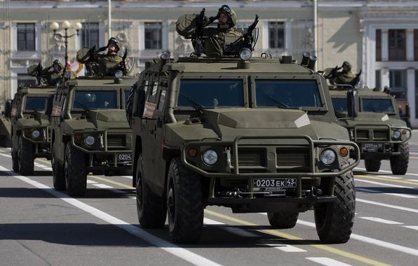 "Picture car, Russian, multipurpose, armored car, high, patency, ""Tiger"", GAZ-2330"