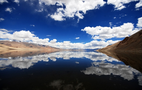 Picture clouds, landscape, mountains, nature, river, nature, mountains, view, clouds, lakes