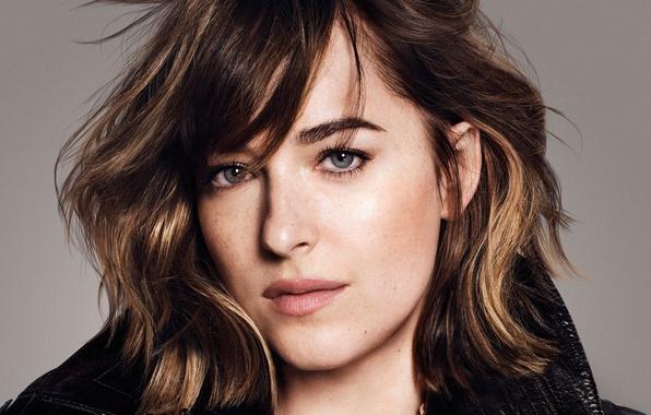 Picture look, face, background, model, makeup, actress, brunette, hairstyle, closeup, It, Dakota Johnson, Paola Kudacki, Dakota …
