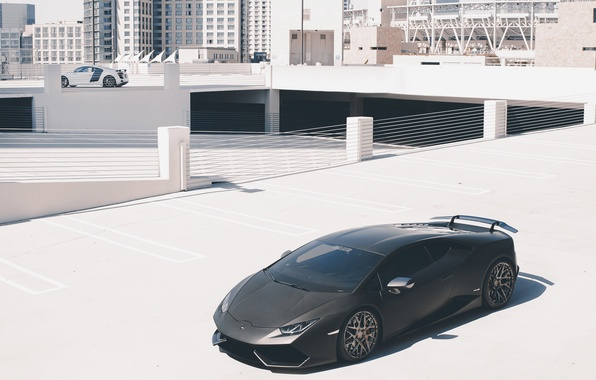 Picture auto, Audi, Lamborghini, supercar, is, Lamborghini, Huracan, GMG, on the sidelines