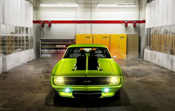 Picture garage, muscle car, Chevrolet Camaro, Chevrolet Camaro