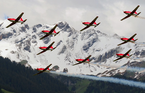 Picture flight, aviation, mountains, aircraft