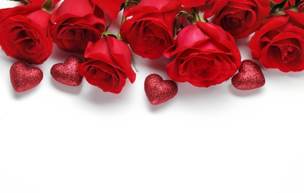 Picture love, heart, roses, love, heart, romantic, Valentine's Day