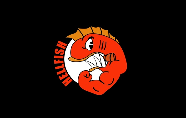 Picture logo, muscle, power, The Simpsons, Hellfish