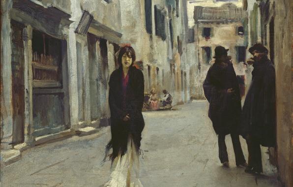 Picture Girl, Loneliness, Beautiful, Art, Asian, Street, Men, Girls, Female, Wallpaper, Venice, Woman, Background, Artwork, Painting, …