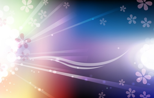 Picture rays, line, flowers, abstraction, glow