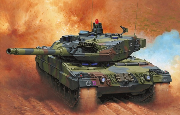 Picture figure, tank, Germany, Enzo Maio, the Bundeswehr, MBT, Leopard 2A6