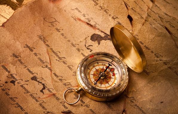 Picture letter, arrow, journey, compass, direction, Compass