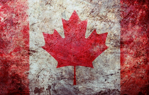 Picture surface, fading, Wallpaper, texture, flag, Canada, texture, wallpapers, grunge, flag, canadian