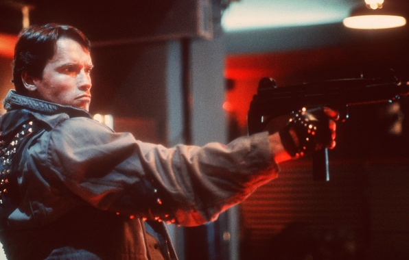 Picture man, machine, actor, Actor, Arnold Schwarzenegger, young, Terminator, Producer, Director, Arnold Schwarzenegger