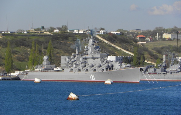Picture Sea, Port, Ship, Moscow, Navy, Russia, Russia, sea, Moscow, Cruiser, ship, port, Cruiser, Rocket, 121, …