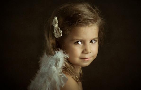 Picture portrait, girl, Little Angels, Leire