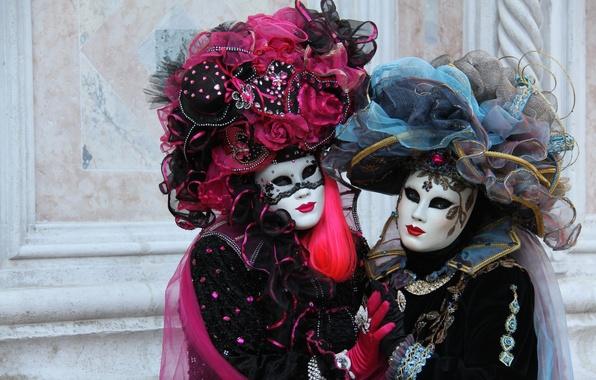 Picture carnival, mask, Venice, costumes